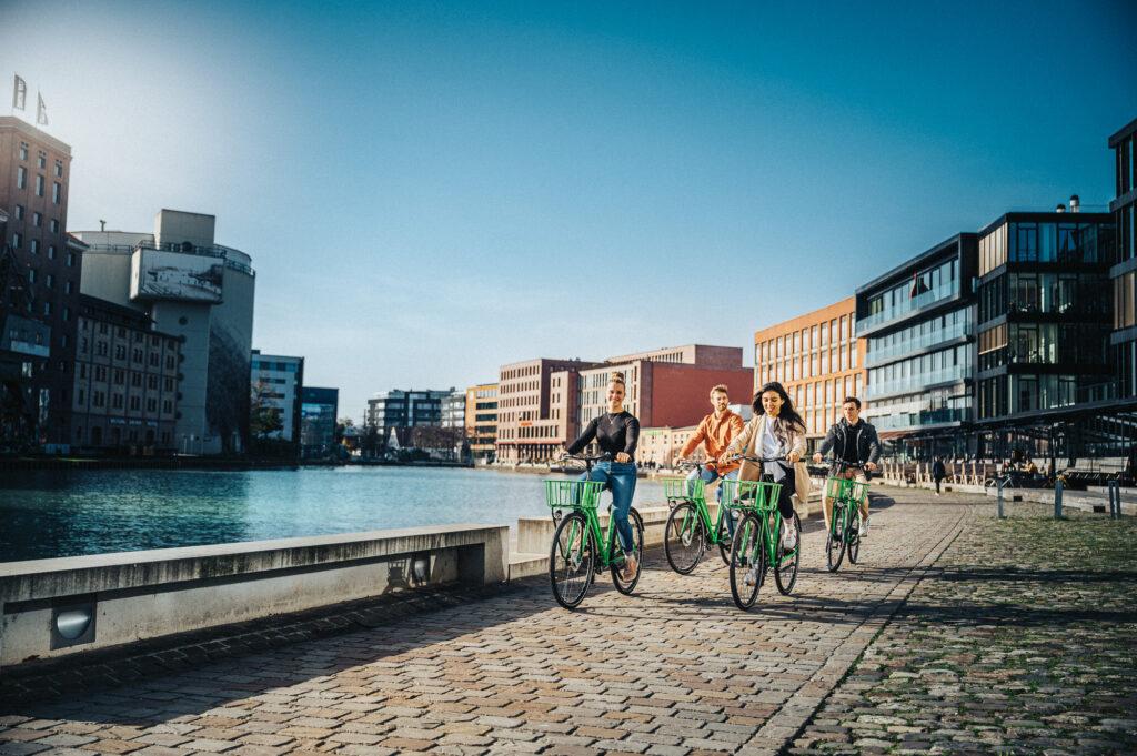 tretty Radtour entlang der Münsteraner Hafen